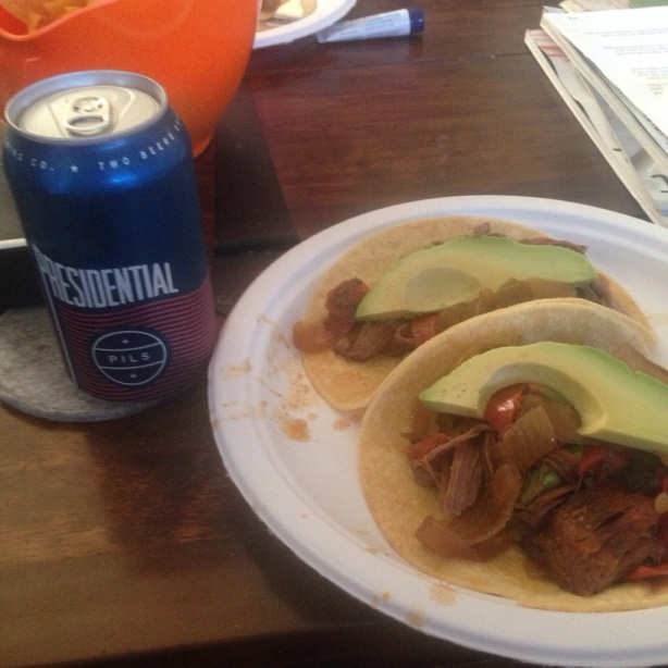 simple weeknight fajitas and presidential pils